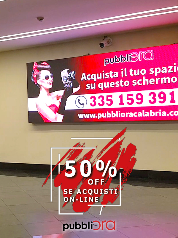 Led wall Centro Commerciale Metropolis Rende